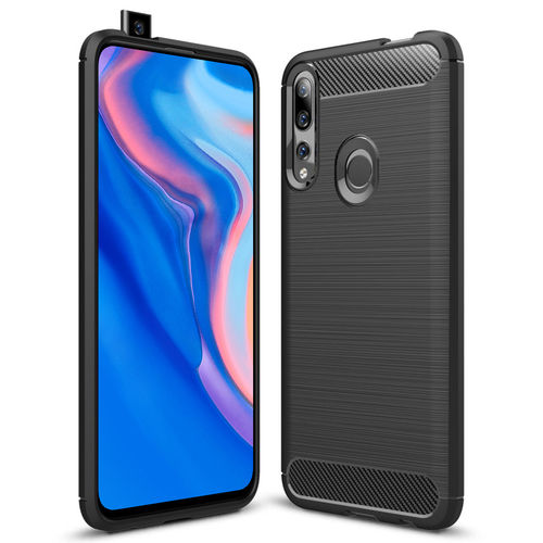 Flexi Slim Carbon Fibre Case for Huawei Y9 Prime (2019) - Black